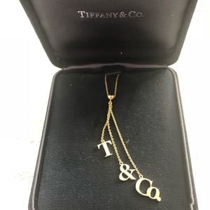 Authentic Tiffany and Co. Lariat 18k gold necklace